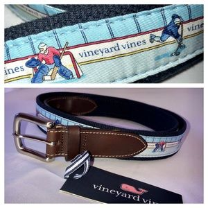 VINEYARD VINES BELT HOCKEY CANVAS CLUB BLUE 42